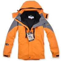 Wholesale NEW Outdoor Climbing clothes fashion two piece men sports coat Winter waterproof men s skiing jacket