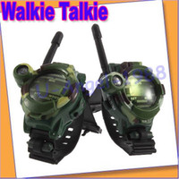 Wholesale New Pair quot quot LCD Radio M Watches Walkie Talkie w Lights Mic