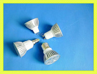 Wholesale high power LED spotlight LED spot light W LED bulb light lamp light cup E14 E27 GU10 GU5 MR16 lm AC85 V