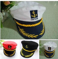 Wholesale Men Women Navy Performances Caps Captain Romania Naval Hat Seafarers Hat Sailor Sailor Cap