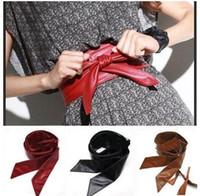 Belts ladies belts - 2015 new women color fashion Lady bowknot belt bind wide belt BAF2712 free ship