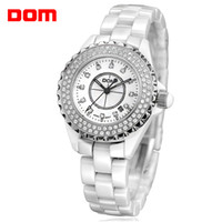 Fashion auto trends - New women fashion trend Dom rhinestone mechanical waterproof calendar noctilucent business casual quartz ceramic watches
