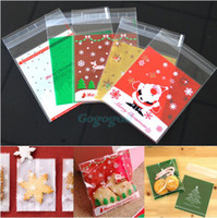 Wholesale 50X Self Adhesive Sweets Cellophane Pack Xmas Party Gift Cookies Candy Cello Bag