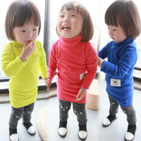 Wholesale quot BabyCity quot qiu dong girls new multicolor rib turtleneck package hip children render T shirt