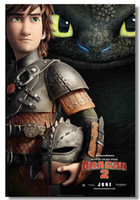 Cheap How to Train Your Dragon 2 Silk Wall Poster Silk Canvas Poster 44hot Painting Room Decorate