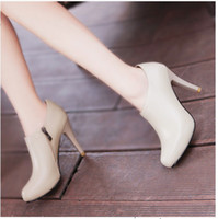 Women Pumps Spring and Fall 2014 free shipping cheap ladies ankle dress shoes black high heels round toes