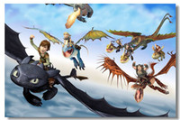 Cheap How to Train Your Dragon 2 Silk Wall Poster Silk Canvas Poster 1hot Painting Room Decorate