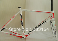 Wholesale 2013 Original NEW White Red Colnago M10 carbon frames road bicycle bike Frame fork headset