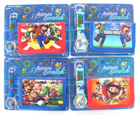 Wholesale of cartoon Mario wrist watches wallets Popular Gift