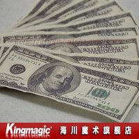 Wholesale US Dollar flash paper print on one sids flash dollar fire magic magic prop close up magic