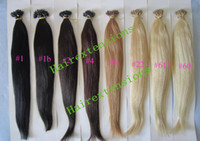 Wholesale 18 quot quot g Remy Micro Nano Rings Human Hair Extensions Remy Indian Human Hair Made g Stock Color Free Beads