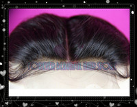 Wholesale a Grade Brazilian Virgin Human Hair Body Wave Middle Part Lace Closure inch Swiss Lace Top Hair Piece