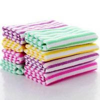 Wholesale Charm rainbow style hand plate bowl pot CLEARNING TOWEL CLEANING CLOTH Hot popular candy color nice cleaning towels cloths Lovely towel
