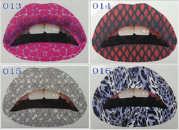 Wholesale Lips Tattoo Lipstick Art Makeup Tools Violent Lip Sticker Style CHUNTIE004