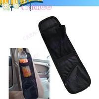 Wholesale Waterproof fabric Black Car Multi Side Pocket Car Pocket Storage Bag Organizer Hanging Bag Collector Holder