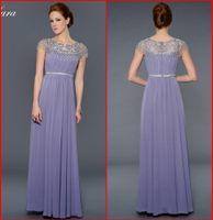 2015 Мать невесты платья Лара Designs светло-фиолетовый Jewel линия Длина пола бисером Роскошные Overlay вечернее платье вечерние платья AM-35