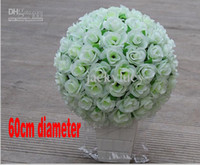 beautiful wedding ceremony - Diameter of cm Large Beautiful Artificial Fabric Roses Flower Ball for Party Wedding Decoration Center Bar Restaurant Opening Ceremony