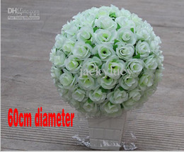 Wholesale Diameter of cm Large Beautiful Artificial Fabric Roses Flower Ball for Party Wedding Decoration Center Bar Restaurant Opening Ceremony