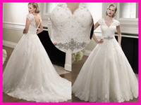 Reference Images victorian ball gown wedding dresses - Victorian High Quality Lace Cap Sleeve Backless Wedding Bridal Dresses Hts Ball Gown Tulle W2607