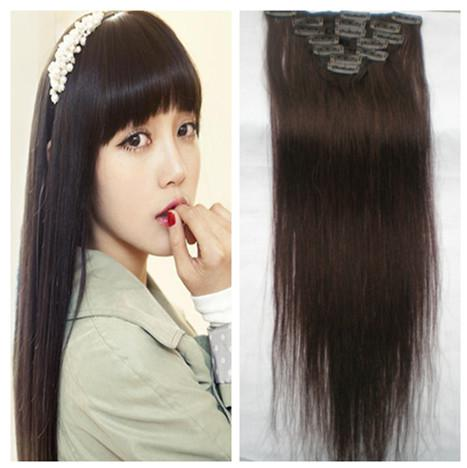 Good Quality Human Hair Clip Extensions Remy Indian Hair