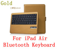 Wholesale 4 Colors Removable Wireless Bluetooth Tablet pc Keyboard Case Cover Stand for iPad Air iPad