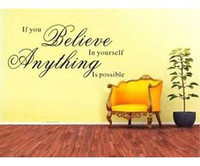 Wholesale Vinyl Removable Wall Quote Sticker Decals Decor If You Believe in Yourself