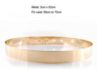 Wholesale women gold full metal plate metallic belt designer style fit waist to in cm and cm