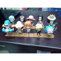 PVC pvc decking - 10pcs set One Piece Deck Luffy Zoro Nami Chopper Franky Usopp Sanji Robin Action Figures Toys For Children Christmas Gift