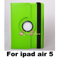 without keyboard 9.7'' For Apple ipad Air 360 Degree Rotating Litchi Dormancy Function Leather Case Stand for ipad 5