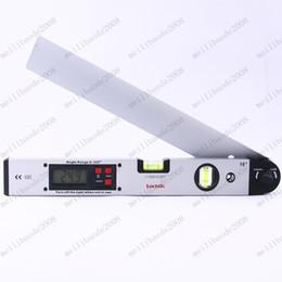Wholesale Aluminum Angle Slope Finder Vertical Horizontal Digital Display Laser Ruler Spirit Level LE005 MYY7784