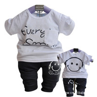 Boy Summer Short Wholesales 2013 summer new Baby, Kids Clothing Children's boys 2 Sets short sleeve T-shirt +long pants SS-971