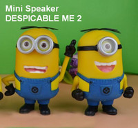 Wholesale DESPICABLE ME Mini Speaker Portable Amplifier for Phone Tablet PC Laptop MP3 MP4 Player Micro SD TF Card USB Disk