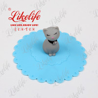 Wholesale Cat silicone cup cover lid for ceramic mug silicone cat shaped cup lid