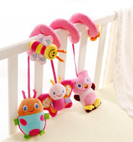 Wholesale Sozzy Years Old Baby Bed Toys Baby Beer Butterfly Ladybug Owl Cartoon Handing Musical Round Bed Education Toys B2251
