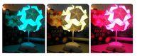 Floral No Yes 60pcs DIY Folding Bookmarket Lamp Paper Lamp Paper Folding Desk Lamp AKARI ORIGAMI Color Changeable Paper Folding Lamp free shipping