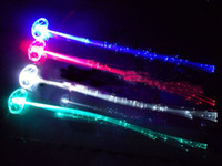 Wholesale 5000pcs LED Light Hair Flashing Hairpin tire color fiber Luminous braid Party Festival Bar Party Fun items