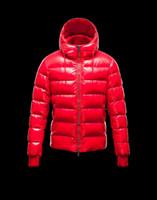 Down Coats full zip hoodie - New Mens zip FULL Down Coat Jacket Hoodie RED Winter size