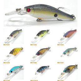 Wholesale Fishing Lure Minnow Crankbait Hard Bait Fresh Water Shallow Water Bass Walleye Crappie Minnow Fishing Tackle to M515