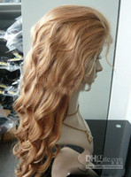 body wave blonde human hair wigs - quot Full Lace Wig Wigs Long Body Wave Natural Golden Blonde Indian Remy Human Hair