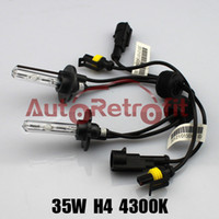 Bulb H4 4300K 35W H4 4300K HID Xenon Replacement Bulbs for Aftermarket G3 G5 HID Bi-xenon Projector Lens