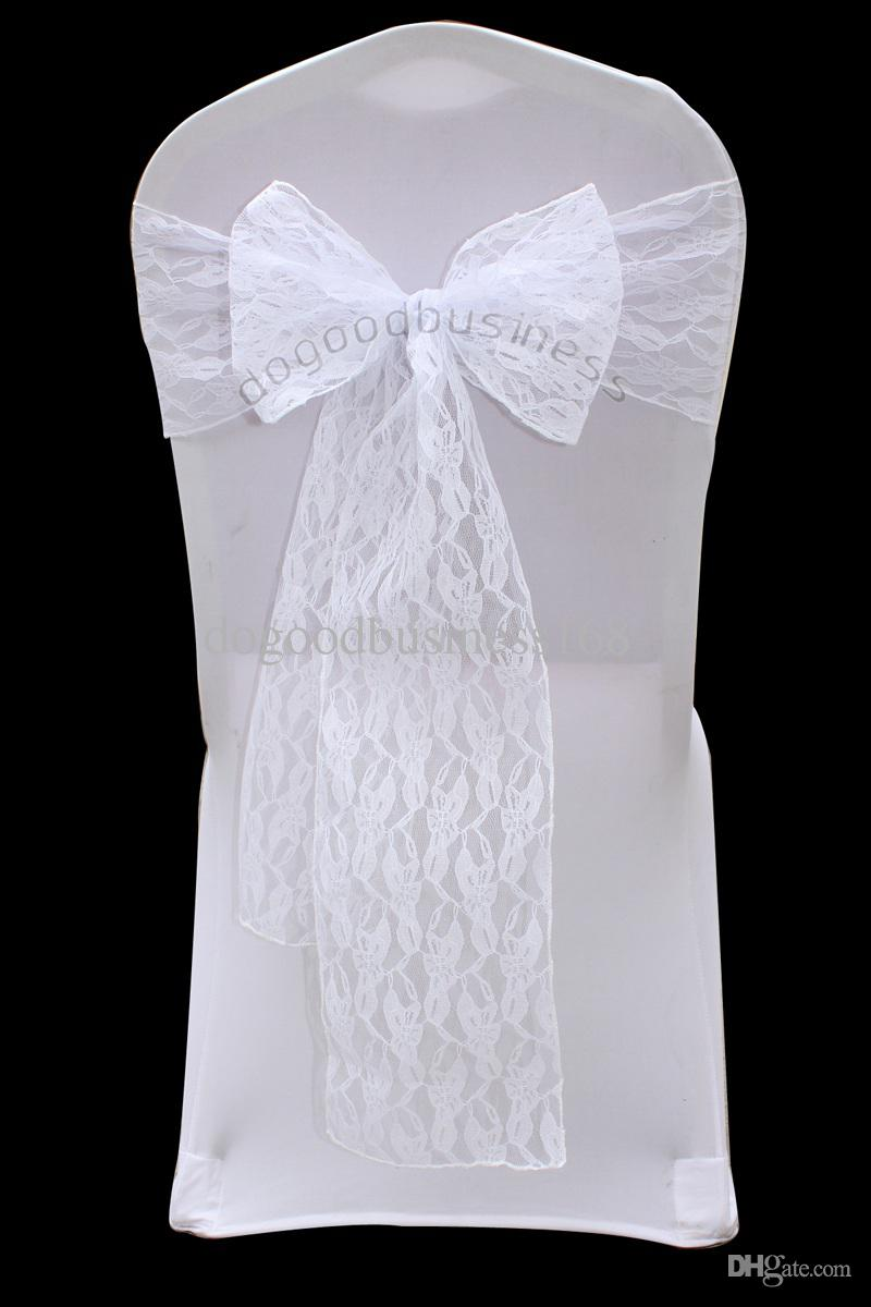 top quality white lace chair sash for wedding event  u0026party