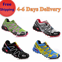 Wholesale Brand climbing shoes Salomon Speedcross CS quick drying and waterproof hiking shoes particular breathability bottom outdoor running shoes