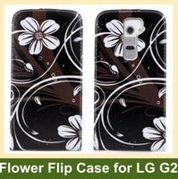 Leather beauty buys - Beauty Flower Print Flip Cover Case for LG G2 PU Leather Cover Case for LG G2 D802