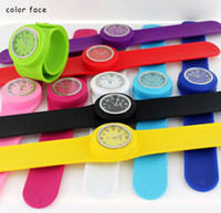 Wholesale Slap Snap on PaPa Quartz Unisex Silicone Watch Sports Men Women Watches DHL