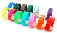 Wholesale Xmas Colorful Soft Led Touch watch Jelly Candy silicone digital feeling screen watches DHL Free