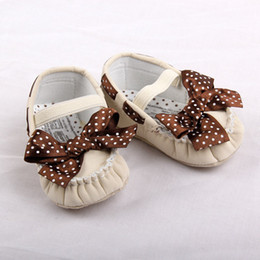 Wholesale Retail hot sale Beautiful children shoe bowknot baby girl Shoes soft leather sole kids shoes infant baby walker shoes
