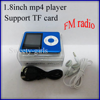 Wholesale 3rd th mp4 player with TF card slot fm radio e book portable gen mp3 mp4 player with earphone usb data cable retail box