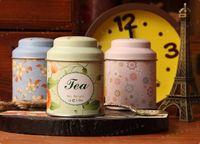 Wholesale flower tea iron box tin box jewelry box storage box small portable tea box
