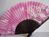 Wholesale 10pcs Fashionable Pink Lace Fan Hand Fan Folding Fan Freeshipping DEC1201