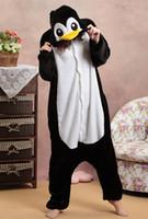 adult romper suit - Penguin Animal Costume Kigurumi Pajamas Cosplay Halloween Suits Adult Romper Cartoon Jumpsuits Unisex Animal Sleepwear Gifts